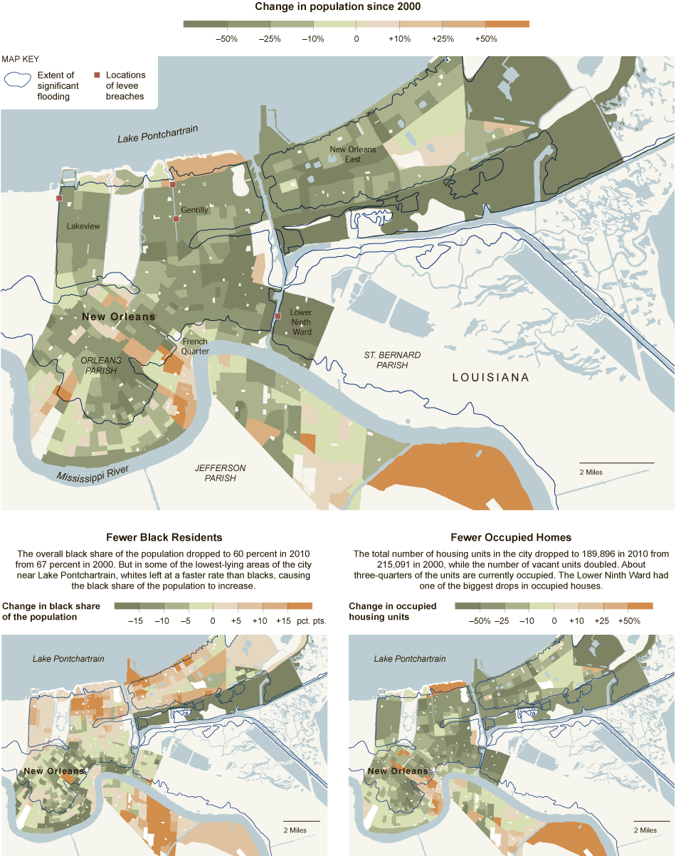 New York Times New Orleans Map Census 2010