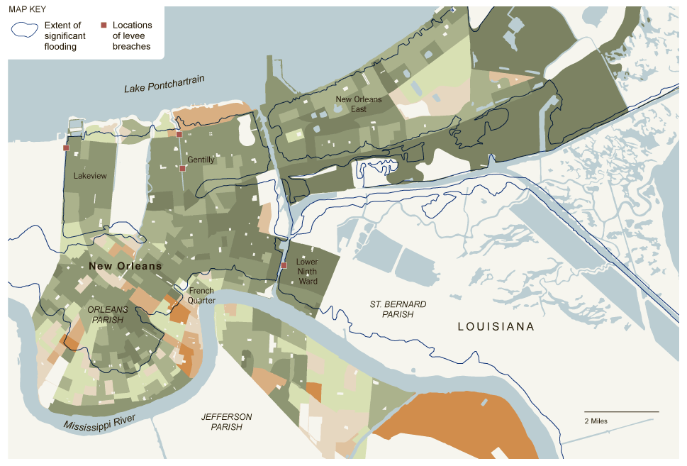 Social Explorer's 2010 Census Maps and Analysis of New Orleans and New Jersey in the New York Times
