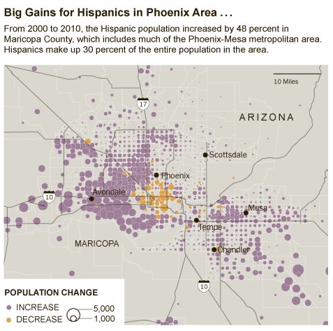 Arizona Surges: Social Explorer Data in the New York Times