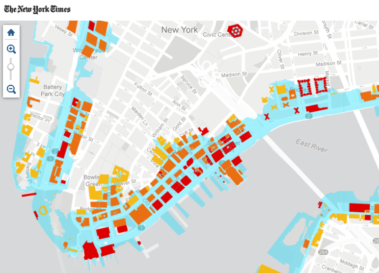 Hurricane Sandy's Destruction--NY Times Interactive Maps from SE's Andrew Beveridge