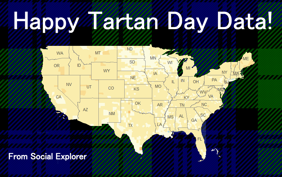 Happy National Tartan Day: Celebrating Scottish American Data