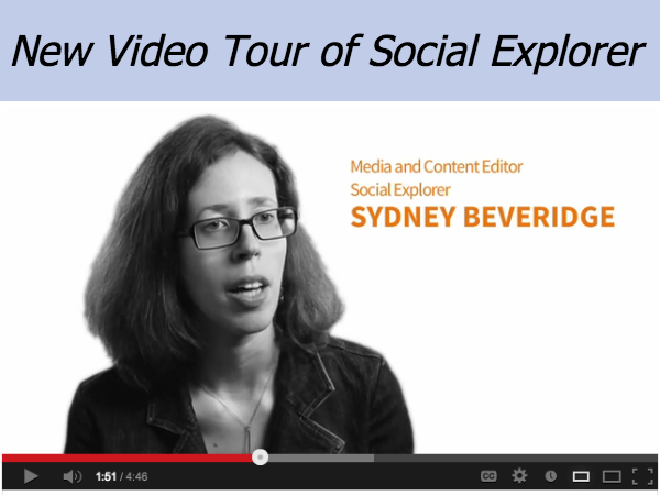 New Social Explorer Video: Learn About the Site from Staff and Users