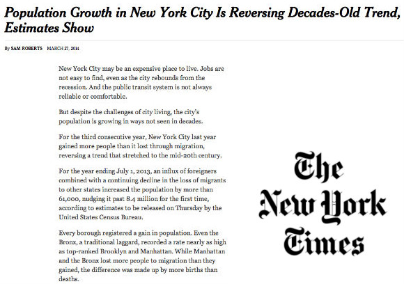 Social Explorer's Andrew Beveridge in the NY Times on New Census Estimates and Population Growth