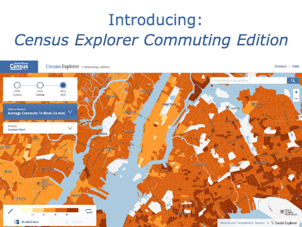 Census Explorer Commuting Edition: Learn How Americans Travel with Our Latest Census Bureau Collaboration