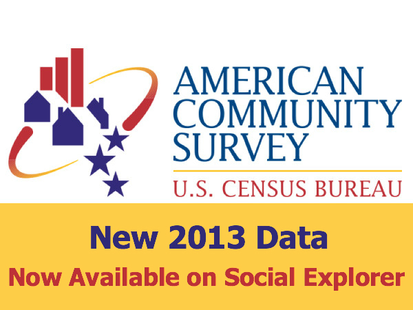 All 2013 American Community Survey Data Now Available on Social Explorer