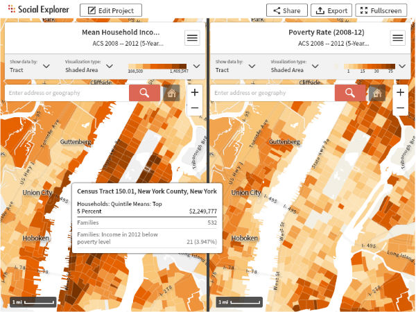New Census Data on Manhattan's Growing Wealth Gap: Social Explorer in the NY Times