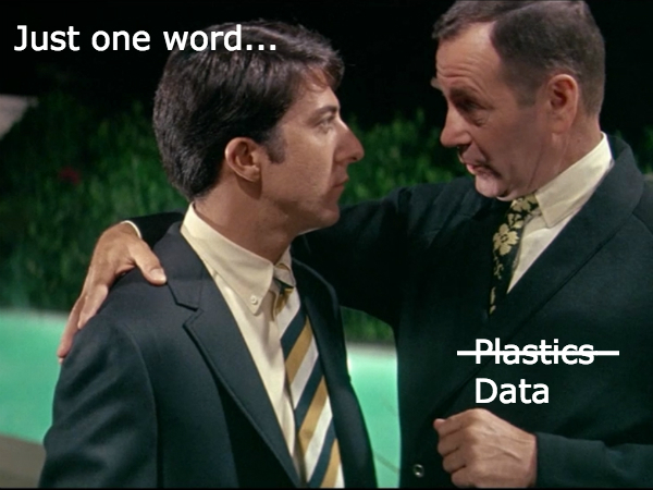 Advice to Graduates: Just one word...Data!