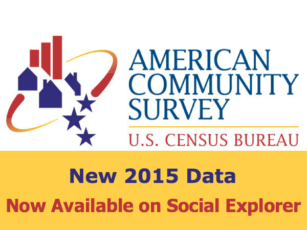 New American Community Survey Data Now Available (2015 One-Year File)