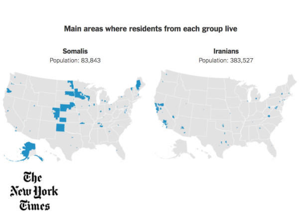 NY Times Article on Banned Immigrant Groups Features Social Explorer Data and Analysis