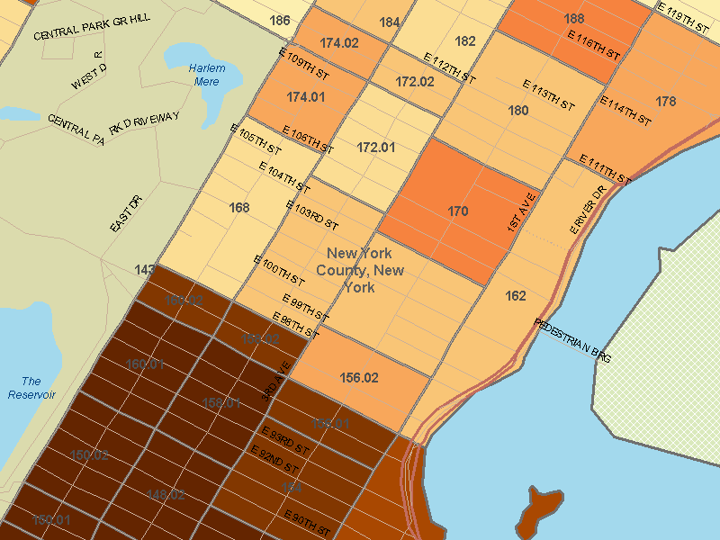 Mapping Class Disparities in New York City Social Explorer