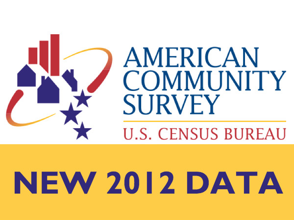 All 2012 American Community Survey data are now available on Social Explorer.