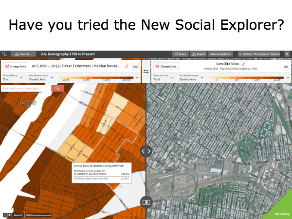 Back to School with the New Social Explorer