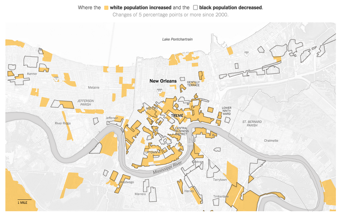 NY Times Features Social Explorer Map Data Social Explorer - Map new orleans wards