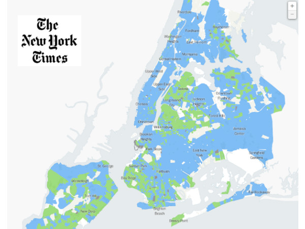 NY Times Neighborhood Primary Election Map Features Social Explorer Pop Estimates