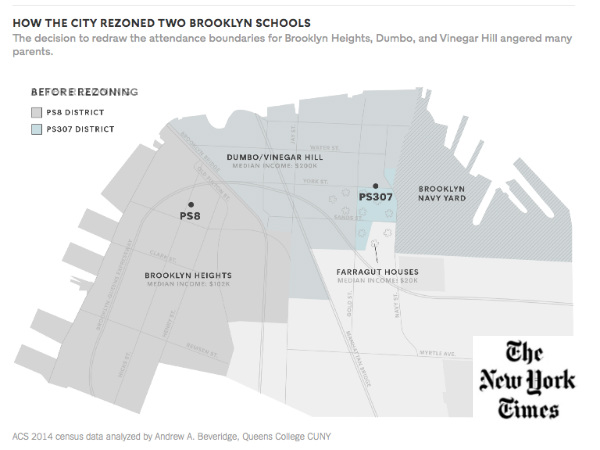 Social Explorer Map in NY Times Article on School Segregation