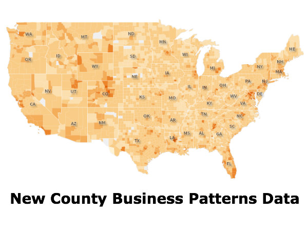 More Business Patterns Data and Maps Now Available