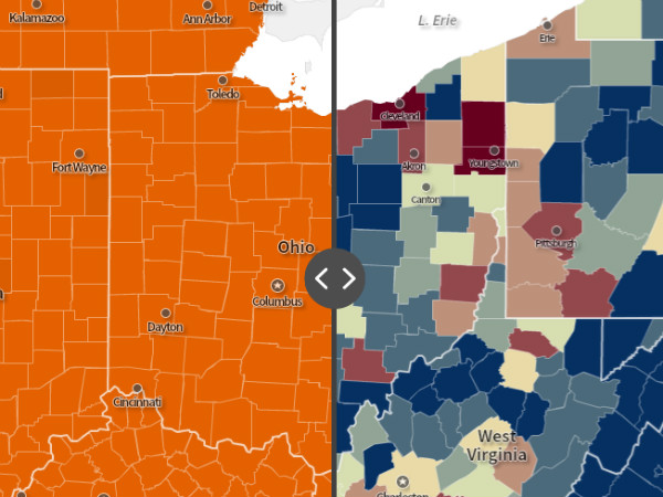 Social Explorer Election Maps: Top Voter Issues