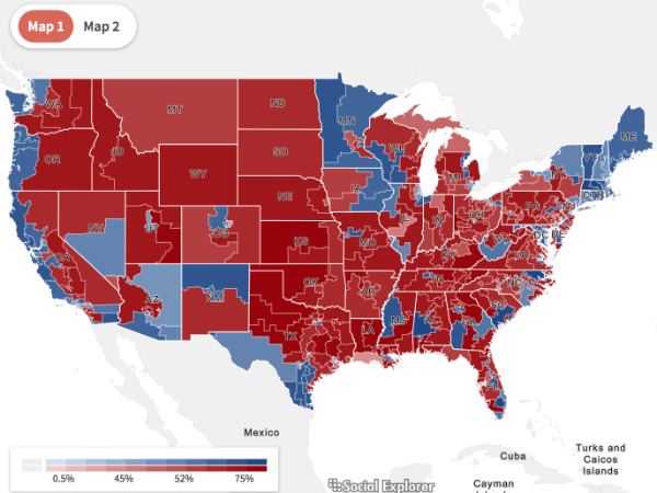 2016 Congressional Election Maps Now Available on Social Explorer