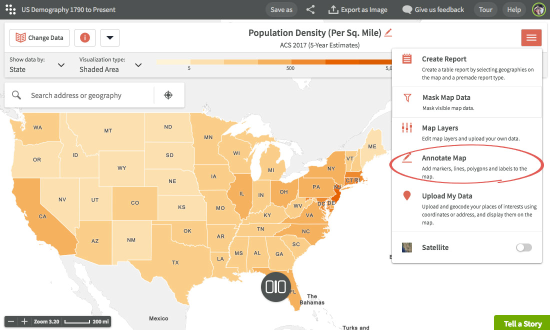 Annotate maps   Customizing maps   Using Maps   Social Explorer Help